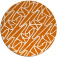 rug #425513 | round orange graphic rug