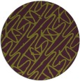 rug #425549 | round green abstract rug