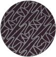 rug #425557 | round purple abstract rug
