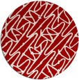 rug #425561 | round red abstract rug