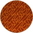 rug #425577 | round red-orange rug