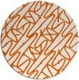 rug #425589 | round red-orange abstract rug