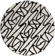 rug #425593 | round black abstract rug