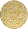 rug #425609 | round yellow abstract rug