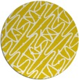 rug #425621 | round white abstract rug