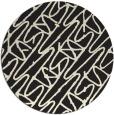 rug #425629 | round black graphic rug