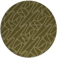 rug #425653 | round light-green abstract rug