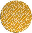 rug #425657   round light-orange abstract rug