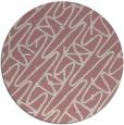 rug #425661 | round pink rug