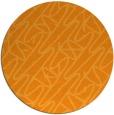 rug #425665 | round light-orange rug