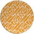 rug #425669 | round light-orange graphic rug