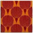 rug #426213 | square orange graphic rug
