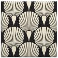 rug #426333 | square black graphic rug