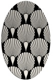 rug #426381 | oval black graphic rug