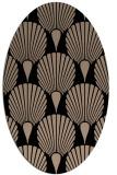 rug #426389 | oval black graphic rug