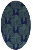 rug #426409 | oval blue graphic rug
