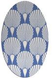 rug #426417   oval blue rug