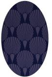 rug #426461 | oval blue-violet retro rug