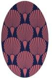 rug #426469 | oval pink popular rug