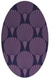 rug #426473 | oval purple rug