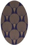 rug #426485 | oval blue-violet retro rug