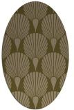 rug #426497 | oval mid-brown retro rug