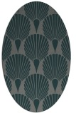 rug #426505   oval green graphic rug