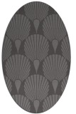 rug #426525 | oval brown retro rug