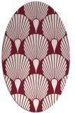 rug #426589 | oval pink graphic rug