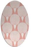 rug #426597   oval pink retro rug