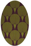 rug #426605   oval green graphic rug
