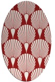 rug #426625   oval red retro rug
