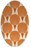 rug #426645 | oval red-orange graphic rug