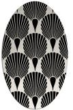 rug #426649 | oval white retro rug
