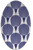 rug #426657 | oval white retro rug