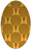 rug #426681 | oval yellow graphic rug