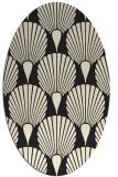 rug #426685 | oval black graphic rug
