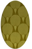 rug #426697 | oval light-green graphic rug