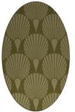 rug #426709 | oval light-green rug