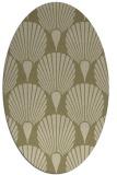 rug #426712 | oval retro rug