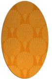 rug #426721   oval light-orange retro rug