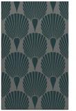 rug #426857 |  blue-green retro rug