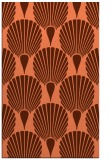 rug #426929 |  red-orange graphic rug