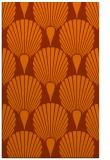 rug #426985 |  red-orange retro rug