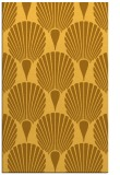 rug #427033 |  yellow retro rug
