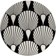 rug #427085 | round black graphic rug