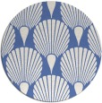 rug #427121 | round blue graphic rug