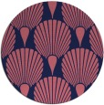 rug #427173 | round blue-violet rug