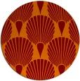 rug #427269 | round red-orange retro rug