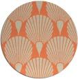 rug #427277 | round orange retro rug